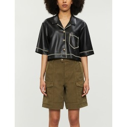 Lily high-rise cotton and linen-blend shorts found on MODAPINS from Selfridges US for USD $300.00