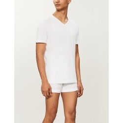 Pack of two v-neck cotton-jersey t-shirts found on Bargain Bro India from Selfridges US for $46.00