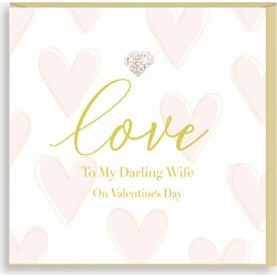 Love to my Darling Wife card 15cm