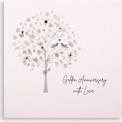 Golden Anniversary greetings card