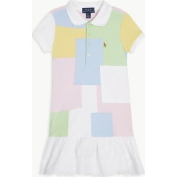 Patchwork cotton polo dress 2-6 years