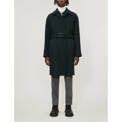 Tie-belt wool-blend coat