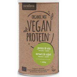 Vegan pea, rice and vanilla protein powder 400g