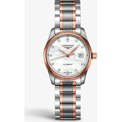 L2.257.5.89.7 Master stainless steel, rose gold and mother-of-pearl watch found on Bargain Bro India from Selfridges US for $2525.00