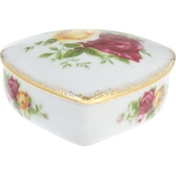 Old Country Roses Heart bone china box 6cm