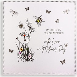 I'm So Lucky You're My Mum Mother's Day card 21cm x 21cm