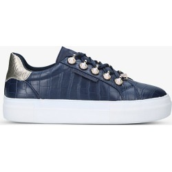 Lisbon crocodile-embossed leather low-top trainers found on Bargain Bro India from Selfridges US for $105.00