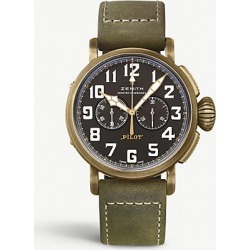 29.2430.4069/21.C800 Pilot Type 20 Chronograph leather and bronze watch