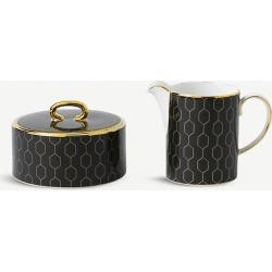 Arris cream jug and sugar bowl set