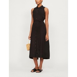 Alison organic linen-blend maxi shirt dress found on Bargain Bro India from Selfridges US for $390.00