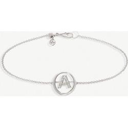 18ct white-gold and diamond A bracelet