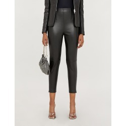 Macinare high-rise leather and stretch-jersey trousers found on Bargain Bro India from Selfridges US for $330.00
