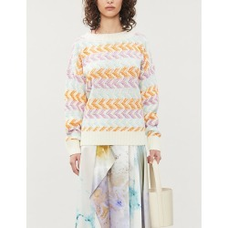 Adna graphic-print wool-blend jumper found on Bargain Bro India from Selfridges US for $106.00