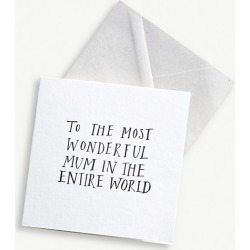 To The Most Wonderful Mum greetings card 12cm x 12cm