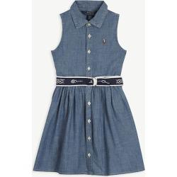 Chambray cotton shirt dress 4-6 years
