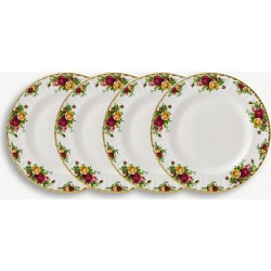 Old Country Roses set of 4 plates 27cm