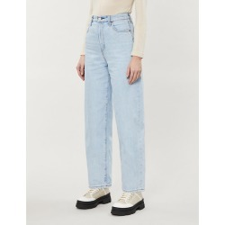 High-rise wide-leg denim jeans found on Bargain Bro India from Selfridges US for $70.00