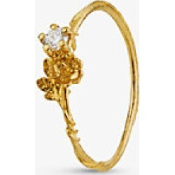 Alex Monroe Rosa Noisette 18ct yellow-gold and 0.10ct diamond ring found on MODAPINS from Selfridges US for USD $935.00