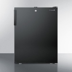 "ADA Compliant 20"" Wide Counter Height All-refrigerator for General Purpose Use, Auto Defrost With A Lock and Black Exterior"