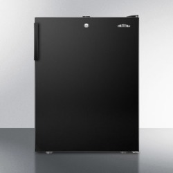 "ADA Compliant 20"" Wide Counter Height All-freezer for General Purpose Use, -20 C Capable With A Lock and Black Exterior"