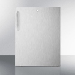 """ADA Compliant 20"""" Wide All-freezer, -20 C Capable With A Lock, Stainless Steel Door, Towel Bar Handle and White Cabinet"""