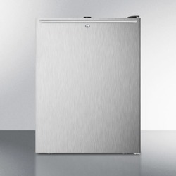 """ADA Compliant 20"""" Wide All-freezer, -20 C Capable With A Lock, Stainless Steel Door, Horizontal Handle and Black Cabinet"""
