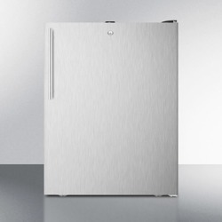 """ADA Compliant 20"""" Wide All-freezer, -20 C Capable With A Lock, Stainless Steel Door, Thin Handle and Black Cabinet"""
