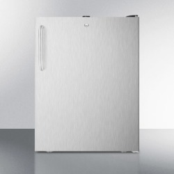 """ADA Compliant 20"""" Wide Built-in Undercounter All-freezer, -20 C Capable With A Lock, Stainless Steel Door, Towel Bar Handle and"""