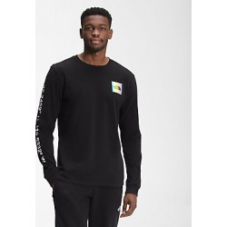 Mens Distored Half Dome Long Sleeve Tee JK3 XS found on Bargain Bro India from The North Face for $35.00