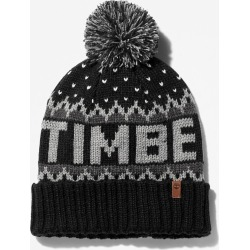 Timberland Winter Logo-knit Beanie For Men In Black Black, Size ONE found on Bargain Bro UK from Timberland (UK)