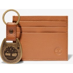 Timberland Leather Card Holder & Keyring Gift Set For Men In Brown Brown, Size ONE found on Bargain Bro UK from Timberland (UK)