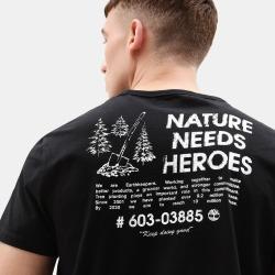Timberland T-shirt Nature Needs Heroes™ Pour Homme En Noir Noir, Taille L