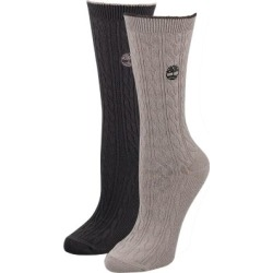 Women's Cable-Knit Wool Crew Socks (2-Pack)