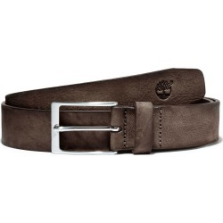Timberland Washed-leather Belt With A Square Buckle For Men In Dark Brown Dark Brown, Size L found on Bargain Bro UK from Timberland (UK)