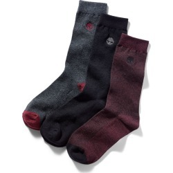 Timberland Three Pair Pique Crew Socks For Men In Red Red, Size M found on Bargain Bro UK from Timberland (UK)