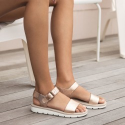 Timberland Lottie Lou Sandal For Women In Rose Gold Rose Gold, Size 5.5 found on Bargain Bro UK from Timberland (UK)
