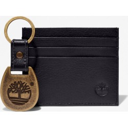 Timberland Leather Card Holder & Keyring Gift Set For Men In Black Black, Size ONE found on Bargain Bro UK from Timberland (UK)