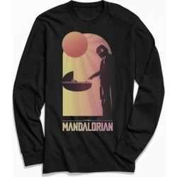 Star Wars The Mandalorian Long Sleeve Tee - Black L at Urban Outfitters