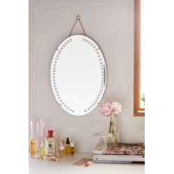 Emerson Etched Oval Wall Mirror - Clear L at Urban Outfitters