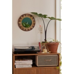 Sunburst Metal Round Wall Mirror - Brown at Urban Outfitters