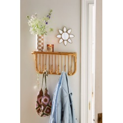 Kamal Entryway Multi-Hook Wall Shelf - Brown at Urban Outfitters