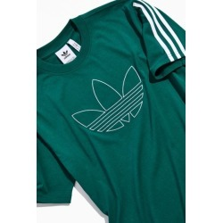 adidas Outline Trefoil Tee - Green L at Urban Outfitters