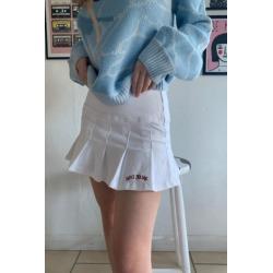 BDG 00s White Denim Kilt Skirt found on Bargain Bro India from Urban Outfitters (US) for $54.00