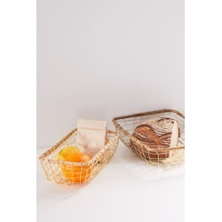 Wire Kitchen Basket - Gold L at Urban Outfitters