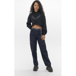 BDG Diamante Belted Raw Denim Jean - Blue 26W 32L at Urban Outfitters