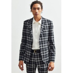 UO Plaid Skinny Fit Single Breasted Suit Blazer - Black 40 at Urban Outfitters found on Bargain Bro India from Urban Outfitters (US) for $149.00
