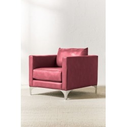 Chamberlin Recycled Leather Chair - Red at Urban Outfitters