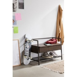 Florence Storage Bench - Brown at Urban Outfitters