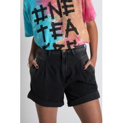 One Teaspoon '80s Denim High-Waisted Short - Worn Black found on MODAPINS from Urban Outfitters (US) for USD $89.99