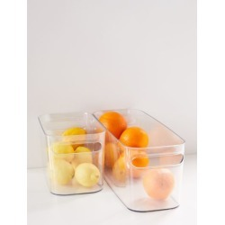 Una Plastic Storage Bin - Clear S at Urban Outfitters
